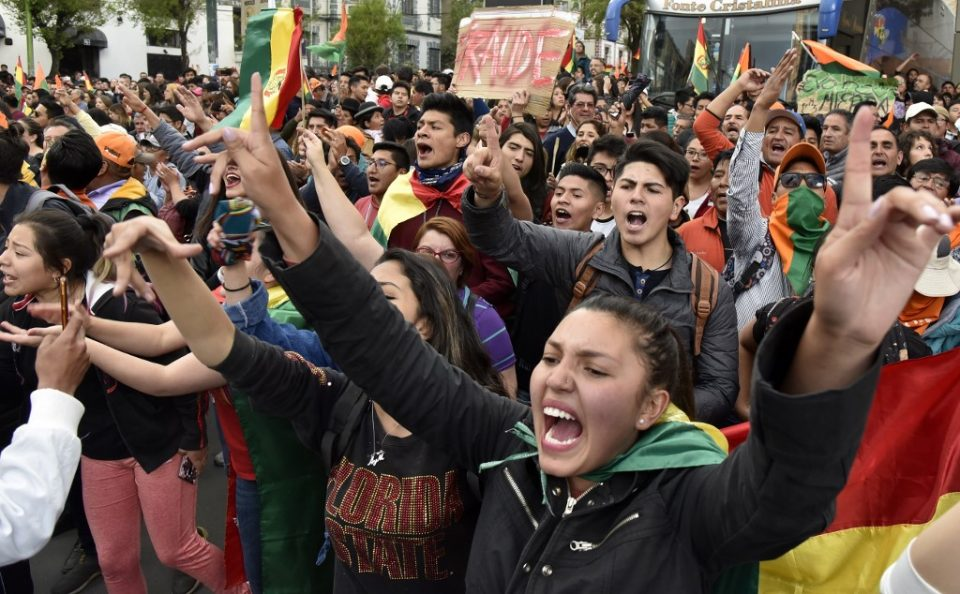 Image result for BOLIVIA ELECTION CLASHES BREAK OUT OVER PRESIDENT'S CONTROVERSIAL LEAD