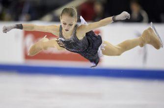 Alexandra Trusova of Russia skates her short program at the 2019 Skate Canada International ISU Grand Prix event in Kelowna, Canada, on October 25, 2019. (Photo by Geoff Robins / AFP)