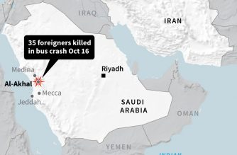 35 foreigners dead in Saudi bus crash: state media