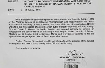 Guevarra to NBI: Probe Batuan, Masbate Vice Mayor Yuson slay