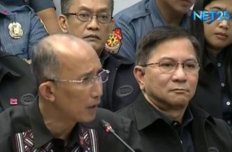 "Former Philippine National Police Criminal Investigation and Detection Group (CIDG) chief and now Baguio City mayor Benjamin Magalong continues his testimony on Tuesday, Oct. 1, 2019, on the so-called ""ninja cops"" in Pampanga who had been ordered dismissed from the service, only to be demoted one rank lower later.  (Eagle News Service)"