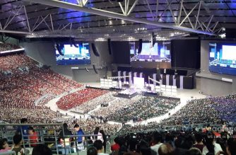 The 55,000 seater  Philippine Arena in Ciudad de Victoria is filled to its capacity as the Iglesia NI Cristo holds its Worldwide Aid to Humanity on Oct. 31, 2019.   The Philippine Arena is one of the sites for the INC Worldwide Aid to Humanity on Thursday, Oct. 31, 2019, which is also the birthday of INC Executive Minister Brother Eduardo V. Manalo.  (Photo by M.R, Faith Bonalos, Eagle News Service)