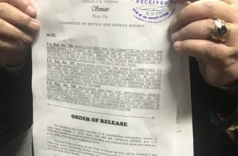 A copy of the release order for Veronica Buño and Mabel Bansil./Meanne Corvera/Eagle News/