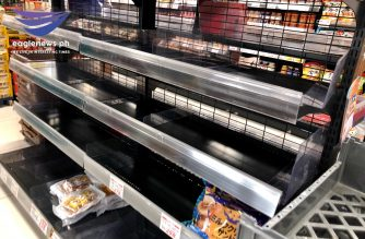 In Kanagawa area, south of Tokyo, supermarkets are also short of basic commodities as people stock up on food for the coming typhoon. The typhoon is expected to hit the greater Kanto area tomorrow. /Christine Mendoza/Eagle News Japan/Eagle News/