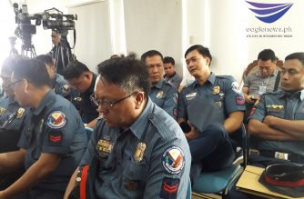 The 12 policemen behind the 2013 irregular drug raid in Mexico, Pampanga were present during the DOJ's first hearing of its reinvestigation of the case on Wednesday, Oct. 16. Major Rodney Baloyo was a no-show but he was represented by his lawyer./Moira Encina/Eagle News/