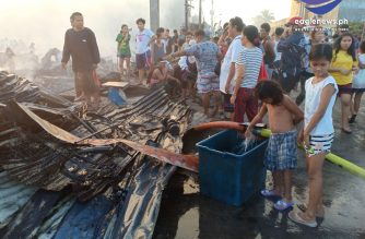 At least one person died and two others were hurt after a fire hit a residential area in Barangay NBBN in Navotas early Friday, Oct. 18./Earlo Bringas/Eagle News/