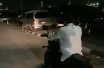 "President Rodrigo Duterte is seen driving a motorcycle in the PSG compound on Wednesday, Oct  16, in this screenshot of a video given by Senator Bong Go to the Malacañang Press Corps. The Palace has given the assurance the President was ""safe"" and ""in good health"" following his motorcycle accident./c/o Senator Bong Go/"