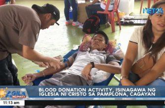 Blood donation drive, isinagawa ng Iglesia ni Cristo sa Pamplona, Cagayan