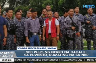 BuCor chief Bantag relieves 300 Bilibid guards, replaces them with 500 NCRPO cops