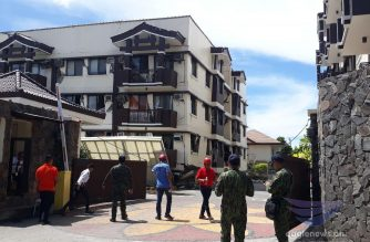 The Ecoland 4000 condominiums and apartment building suffer heavy damage after the 6.5 magnitude quake that hit Mindanao again on Thursday, Oct. 31, 2019.  (Photo by Angelo Frando, Eagle News Service correspondent in Davao)