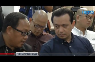 Trillanes faces businesswoman who accused him of kidnapping and serious illegal detention at DOJ hearing