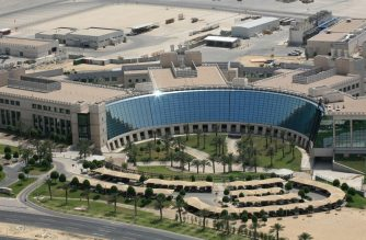 "(FILES) In this file photo received on October 27, 2019 by Saudi Aramco, shows Aramco's Dhahran Research and Development Center in Saudi Arabia's eastern region of Dhahran. - From robots to sniffer drones, Saudi Aramco has ramped up spending on technological innovation while its rivals cut back amid soft oil prices, but the energy giant risks losing its edge after its much-anticipated IPO. Saudi Arabia is offering a sliver of the company, touted as the kingdom's crown jewel, in its upcoming initial public offering that is the bedrock of Crown Prince Mohammed bin Salman's ambitious strategy to overhaul the oil-reliant economy. (Photo by - / Saudi Aramco / AFP) / == RESTRICTED TO EDITORIAL USE - MANDATORY CREDIT ""AFP PHOTO / HO / ARAMCO"" - NO MARKETING NO ADVERTISING CAMPAIGNS - DISTRIBUTED AS A SERVICE TO CLIENTS =="