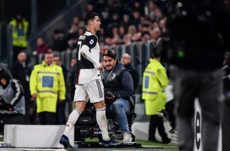 Juventus' Portuguese forward Cristiano Ronaldo goes directly to the changing rooms after being substituted during the Italian Serie A football match Juventus vs AC Milan on November 10, 2019 at the Juventus Allianz stadium in Turin. (Photo by Marco Bertorello / AFP)