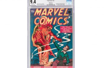 "This image courtesy of Heritage Auctions shows a copy of Marvel Comics No. 1, the 1939 comic book considered the 'Big Bang' of the Marvel Comics Superhero Universe. - The comic book sold for $1,260,000 on November, 21, 2019, at a public auction of vintage comic books and comic art held by Heritage Auctions in Dallas, Texas. (Photo by HO / Heritage Auctions / AFP) / RESTRICTED TO EDITORIAL USE - MANDATORY CREDIT ""AFP PHOTO / Heritage Auctions"" - NO MARKETING - NO ADVERTISING CAMPAIGNS - DISTRIBUTED AS A SERVICE TO CLIENTS"