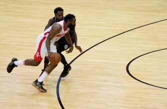 HOUSTON, TX - NOVEMBER 13: James Harden #13 of the Houston Rockets handles the ball against the LA Clippers on November 13, 2019 at the Toyota Center in Houston, Texas. NOTE TO USER: User expressly acknowledges and agrees that, by downloading and or using this photograph, User is consenting to the terms and conditions of the Getty Images License Agreement. Mandatory Copyright Notice: Copyright 2019 NBAE   Cato Cataldo/NBAE via Getty Images/AFP