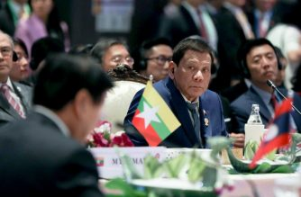 President Rodrigo Duterte on Saturday, Nov. 2, emphasized the need to exercise self-restraint in the South China Sea. Duterte made the call at the 35th ASEAN Summit plenary in Thailand./PCOO/