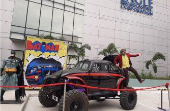 Batman, the Batmobile and  Joker at the EBC PopCon 2019.  (Eagle News Service)