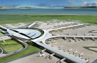 One of the design studies released by San Miguel Corporation in August 2019  for its proposed New Manila International Airport (NMIA) which it is planning to build in Bulakan, Bulacan just north of Metro Manila. The company is investing P734 billion to build a new, world-class international gateway that it envisions will be the best in the region – at no cost to the government. (Photo courtesy San Miguel Corporation)