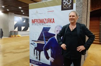 Eagle News Service interviews world-renowned Polish jazz musician, pianist and composer Artur Dutkiewicz after his first concert in the Philippines held at the Cultural Center of the Philippines on Nov. 12, 2019.  (Eagle News Service)
