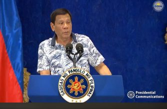 (File photo) President Rodrigo Duterte speaks to reporters in a late night press briefing on Tuesday, Nov. 19, 2019 in Malacanang.  (Photo grabbed from RTVM video)