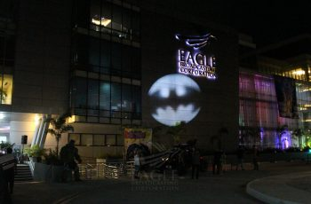 Bat signal during EBC Pop Con