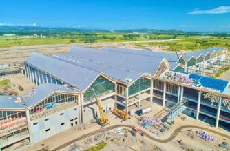 The DOTr said the Clark International Airport's new passenger terminal building is over 87 percent complete./DOTr/