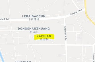 Google map showing Kaiyuan City in Yunnan province in China (Courtesy Google map)