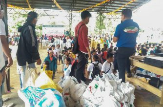 A scene at one of the sites of the Iglesia Ni Cristo's Worldwide Lingap sa Mamamayan in Bukidnon province in the Philippines (Eagle News Service)