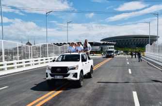 Government officials inaugurated on Tuesday, Nov. 26, 2019, the Ciudad de Victoria Interchange Overpass Bridge and Bypass Road, days before the scheduled opening of the 30th SEA Games to be held at the Philippine Arena in Ciudad de Victoria, Bocaue, Bulacan.  (Photo courtesy DPWH)