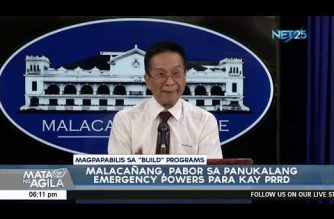 """Palace open to emergency powers for President Duterte to hasten """"Build, Build, Build"""" projects"""