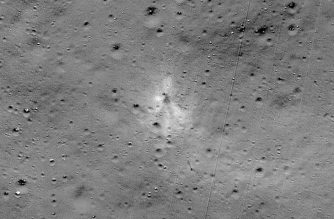 "This handout image released by NASA, and taken by the Lunar Reconnaissance Orbiter Camera team shows the Vikram Lander impact point. - A NASA satellite orbiting the Moon has found India's Vikram lander which crashed on the lunar surface in September, the US space agency said Monday. NASA released an image taken by its Lunar Reconnaissance Orbiter (LRO) that showed the site of the impact (September 6 in India and September 7 in the US), and associated debris field of the spacecraft, with parts scattered over almost two dozen locations spanning several kilometers. (Photo by Handout / NASA / AFP) / RESTRICTED TO EDITORIAL USE - MANDATORY CREDIT ""AFP PHOTO /NASA "" - NO MARKETING - NO ADVERTISING CAMPAIGNS - DISTRIBUTED AS A SERVICE TO CLIENTS"
