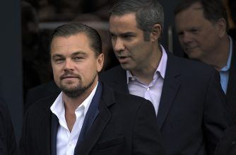 (FILES) In this file photo taken on November 17, 2016 US actor Leonardo Di Caprio arrives at a social restaurant that aims to help the homeless in Edinburgh, Scotland ahead of his appearance this evening at the Scottish Business Awards. - Actor Leonardo di Caprio joined former US vice president Al Gore and other personalities December 4, 2019 in backing a new initiative to seek solutions to climate change. Leading figures from politics, economics, science and entertainment are lending their support to Countdown, which seeks to build support for zero-net emissions and is organized by the TED conference platform. (Photo by Andy Buchanan / AFP)