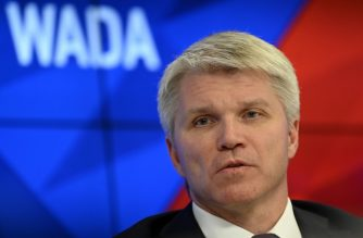 Russian Sports Minister Pavel Kolobkov holds a press conference in Moscow on December 9, 2019. - Russia will miss next year's Tokyo Olympics and the 2022 Beijing Winter Games after the World Anti-Doping Agency on Monday banned the powerhouse from global sporting events for four years over manipulated doping data. (Photo by Dimitar DILKOFF / AFP)