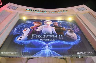 "HOLLYWOOD, CALIFORNIA - NOVEMBER 07: A view of the signage at the world premiere of Disney's ""Frozen 2"" at Hollywood's Dolby Theatre on Thursday, November 7, 2019 in Hollywood, California.   Charley Gallay/Getty Images for Disney/AFP"