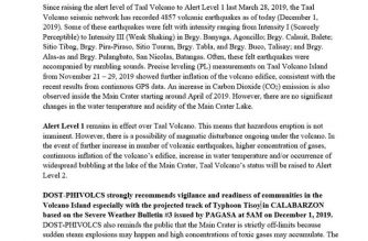 "PHIVOLCS issues Taal Volcano advisory due to ""Tisoy"""