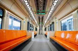 The inside of the new PNR railcars from Indonesia./DOTr/