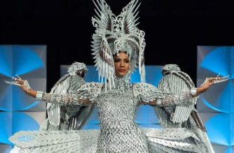 Gazini Ganados wins Best National Costume award at Miss Universe pageant