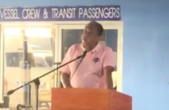 Transportation Secretary Art Tugade at the arrival ceremony for the new coaches in Tondo, Manila on Wednesday, Dec. 11./DOTr/