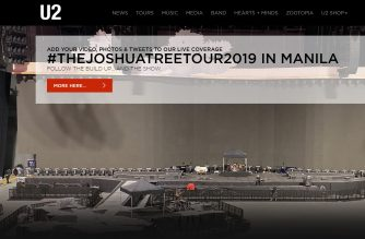 "U2 stages its first ever concert in the Philippines, ""The Joshua Tree Tour 2019"" in Manila to be held at the 55,000-seater Philippine Arena.  (Screen capture from U2 website/Courtesy U2 website)"