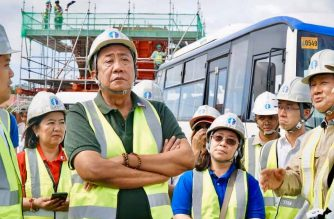 Transportation Art Tugade inspected on Tuesday, Dec. 17, the site of the PNR CLark Phase 1 project that will connect Manila and Bulacan./DOTr/