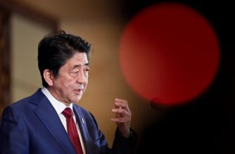 Japan's Prime Minister Shinzo Abe answers a question at a press conference at the 8th trilateral leaders' meeting between China, South Korea and Japan in Chengdu, in southwest China's Sichuan province on December 24, 2019. - China hosted the leaders of squabbling neighbours South Korea and Japan for their first meeting in over a year on December 24, flexing its diplomatic muscle with America's two key military allies in Asia and seeking unity on how to deal with a belligerent North Korea. (Photo by WANG Zhao / POOL / AFP)
