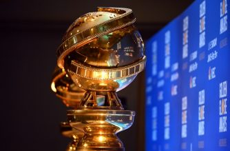 (FILES) In this file photo taken on December 9, 2019, Golden Globe statues are set by the stage ahead of the 77th Annual Golden Globe Awards nominations announcement in Beverly Hills. - Hollywood's biggest stars gather on January 5, 2020, for the glitzy Golden Globes, the first major awards show of a packed season that looks set to mark Netflix's coming-of-age in Tinseltown. The celebrity-filled gala in Beverly Hills is billed as the most raucous event in the showbiz calendar, where success helps create buzz ahead of next month's Oscars. (Photo by Robyn BECK / AFP)