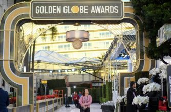 General view of the red carpet set up at the Golden Globes 2020 at The Beverly Hilton, in Beverly Hills, California, on January 4, 2020. (Photo by VALERIE MACON / AFP)