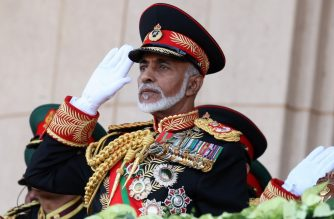 "(FILES) In this file photo taken on November 29, 2010 Oman's Sultan Qaboos bin Said salutes at the start of a military parade at a stadium in Muscat on the occasion of the Sultanate's 40th National Day. - Sultan Qaboos, who ruled Oman for almost half a century, has died at the age of 79, the Omani news agency said January 11, 2020. ""With sadness ... the Omani Sultanate court mourns ... our Sultan Qaboos bin Said ... who God chose to be by his side on Friday evening,"" the agency said. Qaboos, the longest ruling Arab monarch, had been ill for some time and had been believed to be suffering from colon cancer. (Photo by MOHAMMED MAHJOUB / AFP)"