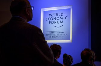 (FILES) In this file photo taken on January 22, 2019, participants attend a session during the World Economic Forum (WEF) annual meeting  in Davos, eastern Switzerland. - The World Economic Forum 50th Annual Meeting in Davos is held from January 21 to 24, 2020. (Photo by Fabrice COFFRINI / AFP)