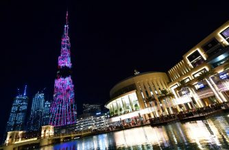 A picture taken on January 15, 2020 shows a view of Burj Khalifa, the world's tallest tower, in Dubai. (Photo by Giuseppe CACACE / AFP)