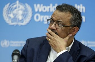 World Health Organization Director-General Tedros Adhanom Ghebreyesus looks on during a press conference following an emergency talks over the new SARS-like virus spreading in China and other nations in Geneva on January 22, 2020. - The coronavirus has sparked alarm because of its similarity to the outbreak of SARS (Severe Acute Respiratory Syndrome) that killed nearly 650 people across mainland China and Hong Kong in 2002-03. (Photo by PIERRE ALBOUY / AFP)