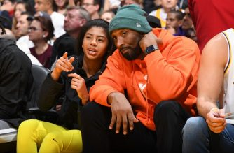 LOS ANGELES, CA - DECEMBER 29: Kobe Bryant and Gianna Bryant attend the game between the Los Angeles Lakers and the Dallas Mavericks on December 29, 2019 at STAPLES Center in Los Angeles, California. NOTE TO USER: User expressly acknowledges and agrees that, by downloading and/or using this Photograph, user is consenting to the terms and conditions of the Getty Images License Agreement. Mandatory Copyright Notice: Copyright 2019 NBAE   Andrew D. Bernstein/NBAE via Getty Images/AFP