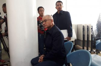 Former Philippine National Police (PNP) chief General Oscar Albayalde is seen here attending a Department of Justice hearing on the reinvetigation of the highly irregular 2013 drug raid in Mexico, Pampanga.  (Eagle News Service)