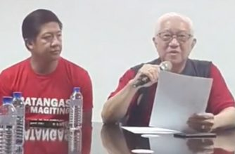 Batangas Governor Hermilando Mandanas is seen here giving a press briefing regarding the situation in his province after the lowering of the alert level on Taal Volcano.  (Screenshot from Batangas PIO Facebook page/Courtesy Batangas PIO)